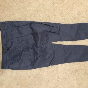 "J. Crew Pants - J. Crew 9"" cargo toothpicks in thunder grey"